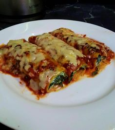 Ricotta and Spinach Cannelloni |