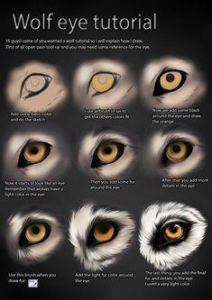 Wolf eye tutorial by TheMysticWolf.deviantart.com on @deviantART