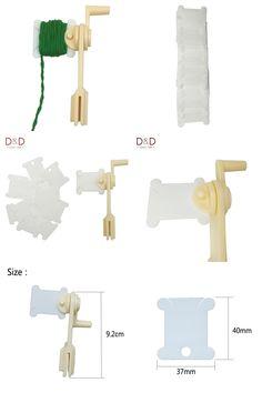 [Visit to Buy] 30pcs Plastic Floss&Craft Thread Bobbins&String Winder Bobbins for Storage Holder Cross Stitch Sewing Supplies #Advertisement