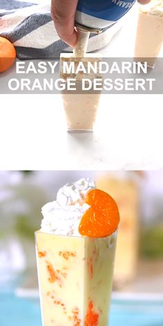 Mandarin Orange Dessert with only 3 Ingredients. Easy Recipe and SO yummy. easy 3 ingredients easy for a crowd easy healthy easy party easy quick easy simple Easy To Make Desserts, Desserts For A Crowd, Köstliche Desserts, Delicious Desserts, Shot Glass Desserts, Jello Dessert Recipes, Pineapple Dessert Recipes, Yummy Food, Desserts With Few Ingredients