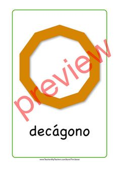 Spanish flash card for decagon