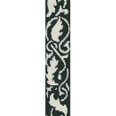 Loom Bead Patterns | LEAVES ABSTRACT - LOOM beading pattern for cuff bracelet (buy any 2 ...