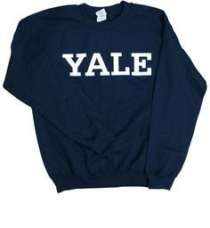 YaleBulldogBlue.com - Men's Sweatshirts - Basic YALE Crewneck Sweatshirt - Navy