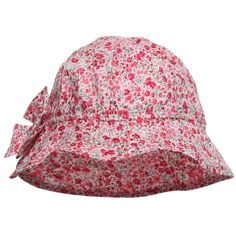 Absorba Baby Girls Liberty Print Cotton Sun Hat (£13) ❤ liked on Polyvore