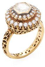 14K Yellow Gold & 1.45 Total Ct. Diamond Ring