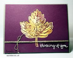 Amanda Sevall Designs. Thinking of You card using Stampin Up Vintage Leaves, Sheltering Tree & Gorgeous Grunge #stampinup #fall