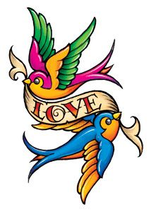 Love Birds .... want this but in a more classic american tattoo design... mor grownup looking.....on my bicep. Oh yeah.