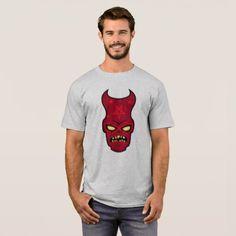 Cranky Demon Illustration T-Shirt - Halloween happyhalloween festival party holiday