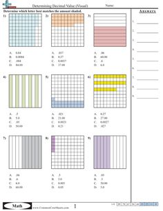 free blank decimal grids for tenths hundreths thousandths on this site math elementary. Black Bedroom Furniture Sets. Home Design Ideas
