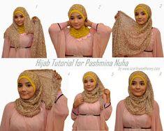 Hijab Tutorial 😮 This beautiful hijab tutorial is wonderfully easy, I can do this! Hijab Tutorial Source : 😮 This beautiful hijab tutorial is wonderfully easy, I can do this! Simple Hijab Tutorial, Hijab Style Tutorial, Scarf Tutorial, Turban Hijab, Hijab Niqab, How To Wear Hijab, How To Wear Scarves, Niqab Fashion, Hijab Fashion Inspiration