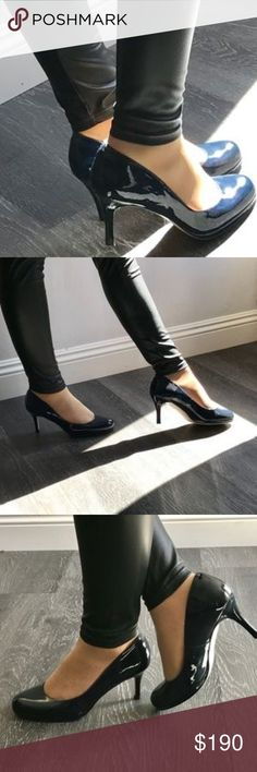 NWT LK Bennett Shoes Size 38.5 BRAND NEW - Never worn  Gorgeous LK Bennett Patent Heels in Navy Blue.  Comfortable to wear everyday to work or dancing on a weekend.  Don't have the original box anymore. Color: Navy Patent Leather Size: 38.5 LK Bennett Shoes