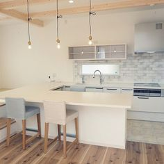 Nordic Kitchen, New Homes, Home And Garden, Interior, Table, Room, House, Furniture, Home Decor