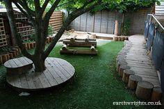 natural playground ideas 60 Beautiful Backyard Garden Design Ideas And Remodel Front Yard Landscaping, Backyard Landscaping, Landscaping Ideas, Backyard Ideas, Garden Ideas, Outdoor Play Spaces, Sensory Garden, Backyard Playground, Playground Ideas