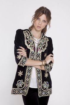 Rhapsodia Black Embellished Jacket.