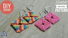 How to Make Simple Macrame Earrings DIY. NEW TUTORIAL: Macrame Bag Tutorial, Market Bag DIY .In this easy Macrame tutorial Ill show you How to Make Earrings with Easy and Simple Macrame Pattern. Macrame Earrings Tutorial, Earring Tutorial, Diy Tutorial, How To Make Earrings, Diy Earrings, Crochet Earrings, Micro Macramé, Magic Knot, Macrame Design