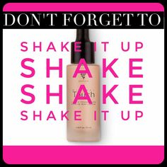 Squeeze out the dropper & shake the bottle before each use of Younique's Touch Mineral Liquid Foundation! #ShakeItUp sarahandbrianyounique@gmail.com