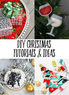 Loads of free DIY Christmas sewing patterns, craft tutorials, and idea round-ups for your holiday crafting. #christmas #crafts #diy