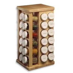 Find place to store spices with this J K Adams Bottles Sugar Maple Wood Spice Carousel. Made from sugar maple wood with a teak oil finish.