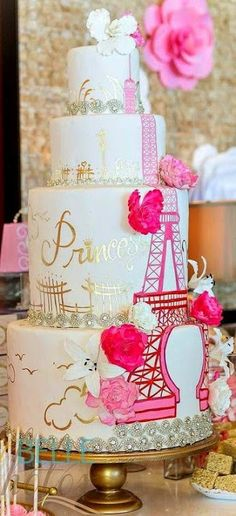Amazing Eiffel Tower themed Cakes For Paris Lovers !!