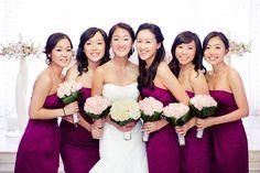 Always a bridesmaid, now a bride.  photo by Allen @studiolumiere