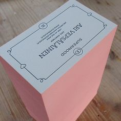 Nice color on #letterpress #businesscards edges. Looks like candy yummy yummy :) | Flickr - Photo Sharing!