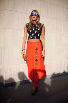 STREET STYLE SPRING 2013: MILAN FW - Anna Dello Russo shows off her Fall Prada.