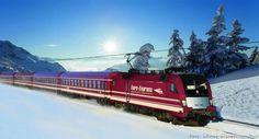 Winterurlaub in Österreich - Stressfrei bis an die Piste    Die vollständige #News finden Sie in unserem #kostenfreien #Fewoportal unter:  https://www.fewoanzeigen24.com/artikel/ratgeber/winterurlaub-oesterreich-piste-zug/40.html    #Artikel #Mitteilung #Winter #Winterurlaub #Österreich #Zug #Eisenbahn #Berge #Schnee