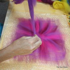How to tutorial for wet felted flowers   Wet Felted Flowers - DIY
