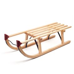 classic wooden sledge - hedgehog