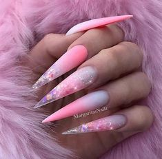 46 Cute Pointy Acrylic Nails that are Fun to Wear acrylic stiletto nails. the best latest glitter acrylic nail art designs ideas for long nails 32 ~ p. Pointy Acrylic Nails, Matte Stiletto Nails, Summer Acrylic Nails, Best Acrylic Nails, Acrylic Nail Designs, Gel Nails, Coffin Nails, Stiletto Nail Designs, Nail Polishes