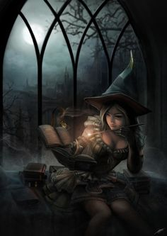 A Touch of Magic Picture  (2d, fantasy, magic, mage, girl, woman)