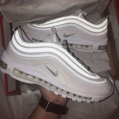 The Nike Air Max 97 for only € 59 Limited and exclusive! They are leaving for . Cute Nike Shoes, Cute Sneakers, Nike Air Shoes, Nike Air Max, Shoes Sneakers, Nike Footwear, Mode Poster, Aesthetic Shoes, Fresh Shoes