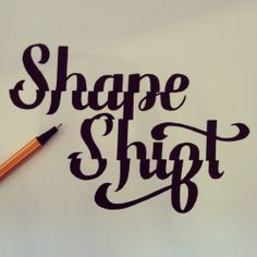 roxy prima // handdrawn typo // shape shift