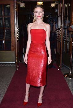 Red Dresses to Wear Through Holiday Season and Beyond via @WhoWhatWearUK