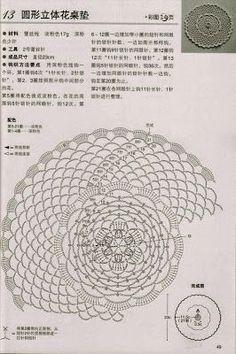 circular doilies crochet (Crochet Knitting Handicraft)