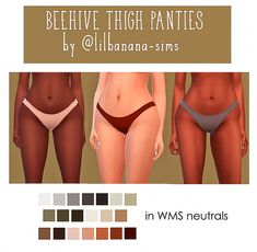 Beehive Thigh Panties Recolour I've been in a recolouring mood, I rlly like these undies and I needed them in more colours! Thanks to for the cute mesh! You need the mesh for these to. The Sims 4 Pc, Sims 4 Cas, My Sims, Sims Cc, Sims 4 Expansions, Sims Games, Sims 4 Clothing, Sims Mods, The Sims4