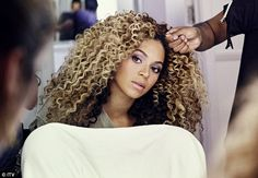 Flawless: The former Destiny's Child singer has her hair and make-up finished ahead of making her way to the stage