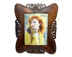 Celtic Knot Picture Frame Hand Carved Wood 5x7 Irish Gift
