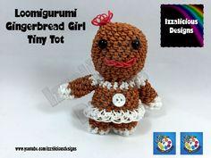 Loomigurumi Gingerbread Girl Tiny Tot Christmas Figure - amigurumi w/ Ra...