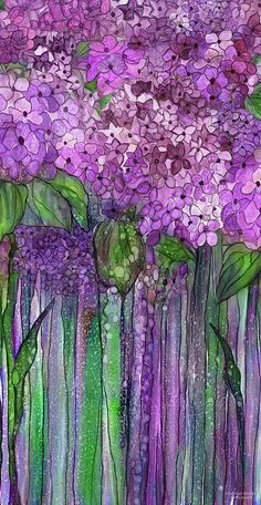 Hydrangea Bloomies 2 - Pink Mixed Media by Carol Cavalaris