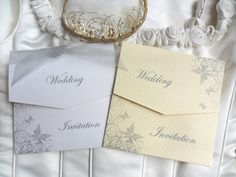 Silvery Grey Butterfly Wedding Invitations. Shop online at www.daisychaininvites.co.uk