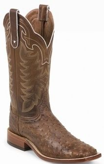Tony Lama Men's Vintage Full Quill Ostrich Tan Thoroughbred Boots | SouthTexasTack.com