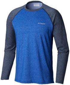 9286165f Columbia Men's Thistletown Park Performance Raglan-Sleeve T-Shirt - Azul  Heather, Collegiate