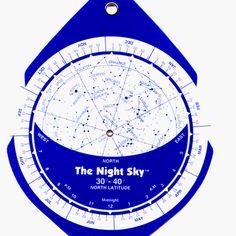 Amazon.com: The Night Sky 30°-40° (Small) Star Finder