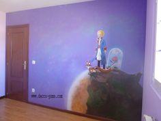Mural pintado  El Principito