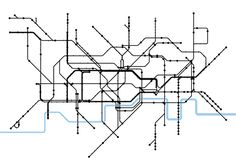 Reshaped Structure According to the London Tube Map London Tube Map, London Map, Underground Map, Mental Map, Vintage London, Map Design, London Photos, Maps, Black And White