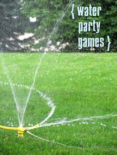 Fun outside water games for the kids!  Can't wait!