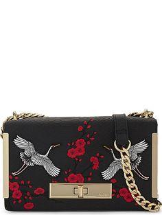 ALDO Bergantino embroidered shoulder bag