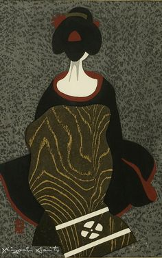 View Portrait of a Geisha By Kiyoshi Saito; x 25 cm ; Access more artwork lots and estimated & realized auction prices on MutualArt. Japanese Art Modern, Japanese Drawings, Japanese Artwork, Japanese Prints, Japanese Culture, Art Occidental, Geisha Art, Japan Painting, Art Japonais