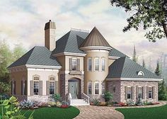 house turret designs | ... : Metric, European, Canadian, Traditional House Plans & Home Designs